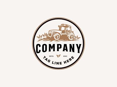 Tractor premade logo agriculture tractor logo logodesign premade logo premade
