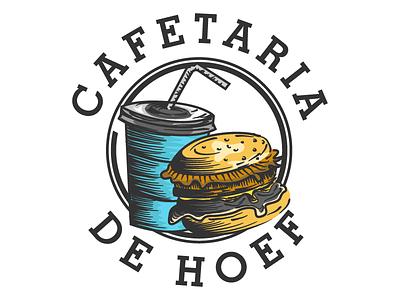 CAFETARIA DE HOEF tattoo handdrawn design vintagelogo logo vector illustration classic vintage
