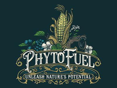 PhytoFuel Logo digitalart design handdrawn drawing vintagelogo logo illustration classic vintage vector