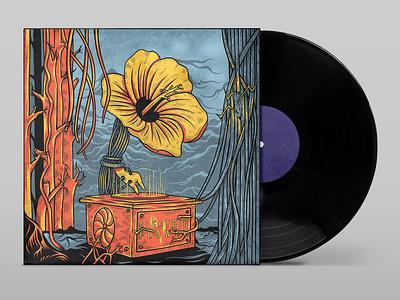 album Cover illustration designforsale handdrawn drawing classic vintage vector music illustration albumdesign