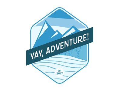 Yay, Adventure! Logo (Final) outdoors adventure identity logos logo