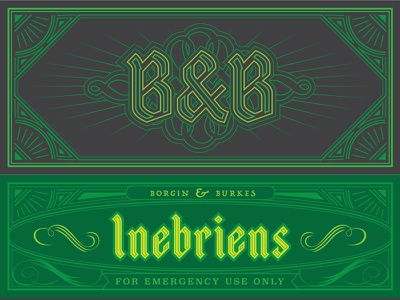 Inebriens concept typography packaging
