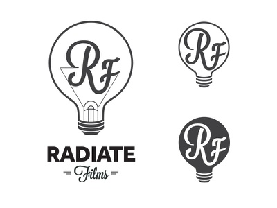 Radiate Films Logo Concepts typography logo concepts identity