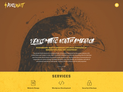 PixelWatt Rebrand rock rebrand website