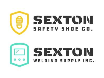 Sexton Logos safety shoe welding industrial branding logos