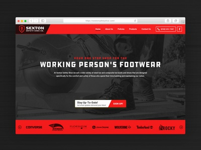 Sexton Multisite ddc red web website safety shoe construction industrial
