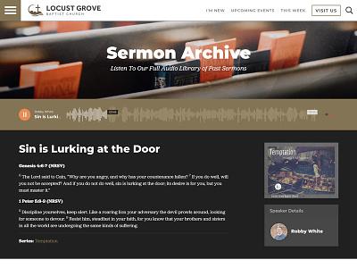 Locust Grove Sermon Audio podcast church audio player wordpress web