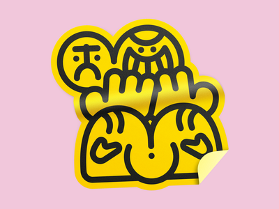 Mr. Neslé sticker nacachedesign mrnesle pink logo character throwup graffiti