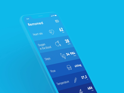 Animation of the app interface for Remsmed & Smart Patch