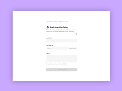 Jira Integration Setup