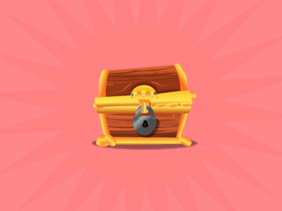 Treasure gamification gaming app game booty medal silver treasure gold chest
