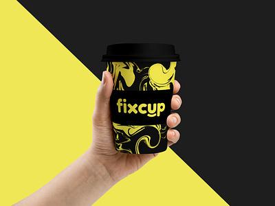 Fixcup Coffee Cup Design cafe logo лого логотип logotype logo logotype design logo design