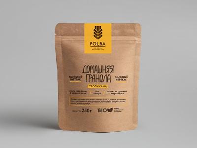 Polba Granola Packaging label design labeldesign package design packaging design packagedesign package packagingdesign packaging