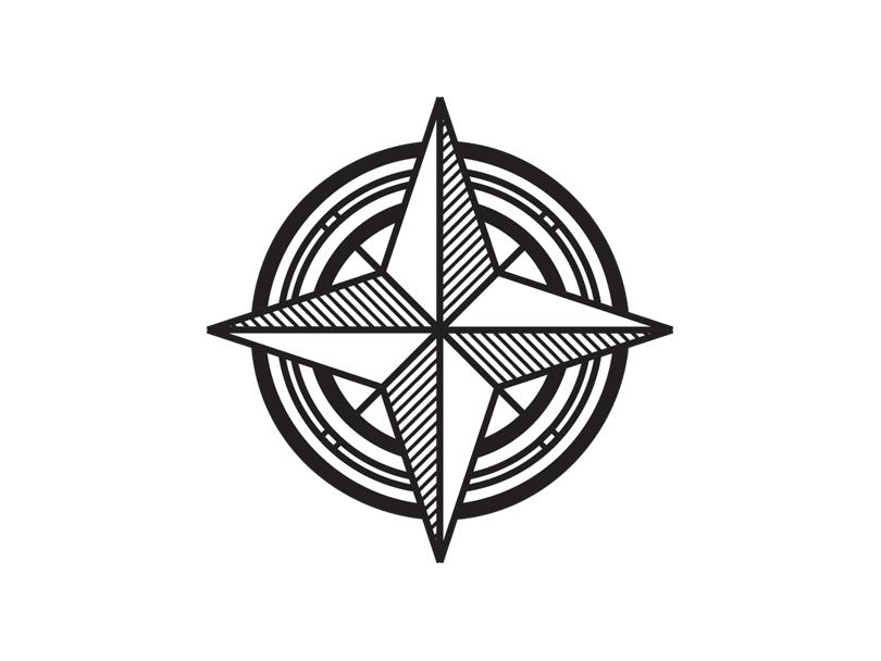 Compass Icon icon artwork line art logo icon illustration vector nautical compass