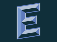 Letter E Typography
