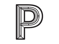 Letter P Typography