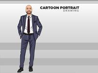 Cartoon Portrait - Avatar - Vector Art drawing