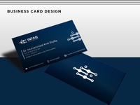 Business Card Design For Technology Company INTAQ