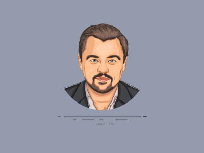 Leonardo Dicaprio - Vector Art - Vector Portrait