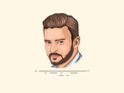 Justin Timberlake - Vector Art - Vector Portrait