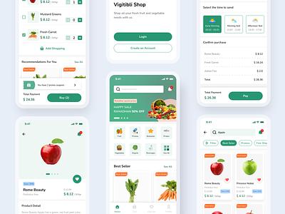 Vigitbli - Grocery App grocery app grocery ecommerce mobile ios app design ux ui