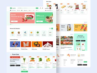 Vigitbli - Grocery E Commerce e commerce web app web app design grocery app grocery desktop app web design web design ux ui