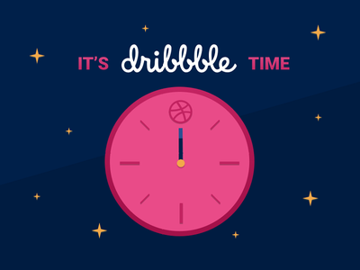 First Shot: It's Dribbble Time! dribbble time graphic design figma first shot