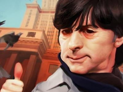 JOACHIM LÖW character design msu selfie fan art fifa digital art caricature