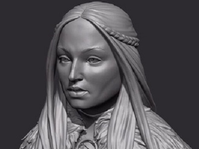 My WIP on Sansa Stark.  Still has a lot of work to be done upon.