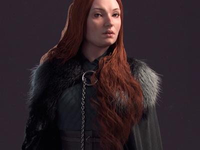 SANSA STARK LADY OF WINTERFELL FROM GAME OF THRONES SERIES.