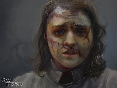 Arya Stark art digitalart characterart gameofthrones got stark arya