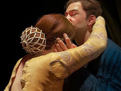 Details. Romeo and Juliette portrait photoreal concept zbrush 3d behance vray art love character design digital art