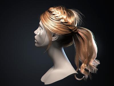 3d realistic hair female commercial tutorial realistic 3d hair