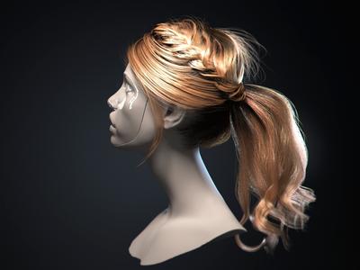 3d realistic hair