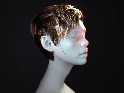 3d Hair girl 3ds max vray realistic tutorial cg hair art 3d