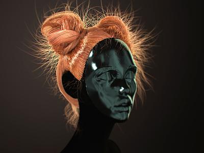 Tutorial 3d hair hair create low poly realistic tutorial 3d