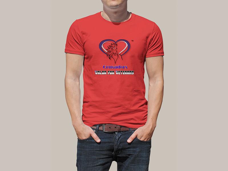 Crusaders Valor For Veterans tshirt design