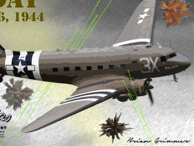 D Day C 47 adobe photoshop 1944 june 6 d-day normandy c-47
