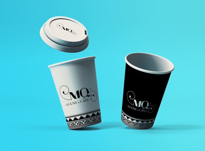 MQ Cups branding lounge coffee cup coffe designs mockup branding logo idea cups design
