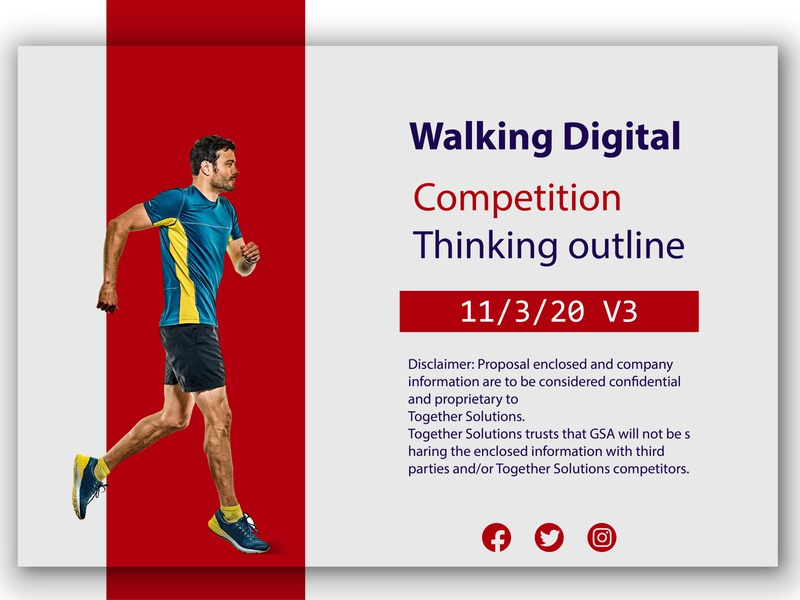 Walking Digital Competition flat app web egypt saudi arab ui branding idea design