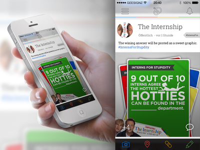 Google Plus on iOS 7? Just playing around :D google plus gplus internship ios7 ios 7 iphone mockup glyphish roboto sans appcom