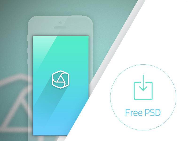 Free App Portfolio PSD by appcom marketing  free psd ios ios7 template mockup mock up hires big