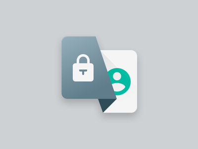 Working on some new shit :) user longshadow app icon icon authenticate material design