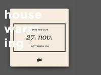 Housewarming Party Invite for Rheinfabrik