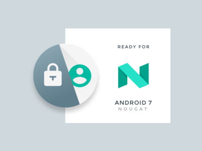Thenticate Nougat App Icon roundicon playstore appicon android7 nougat android