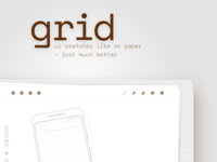 grid – ui sketching template for procreate