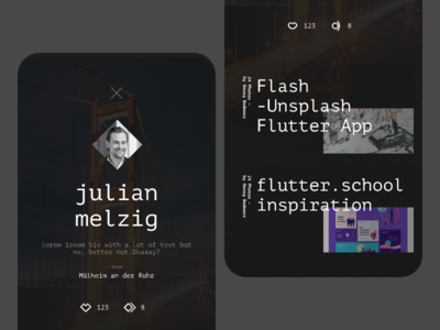 flash –some details from profile screen