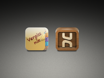 """Icon Redesign for """"Vergiss Nix 2.0"""""""