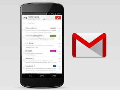 wouldn't it be nice? iOS-Style Gmail for Android! android jelly beans nexus nexus4 ios gmail google googlemail 2.0 droid grey red action real fake yeah appcom