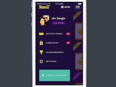 Nomii menu game mobile nomii app